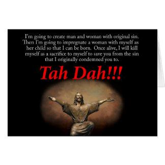 ¡Jesús, TA DA!!!   Tarjeta del día de fiesta