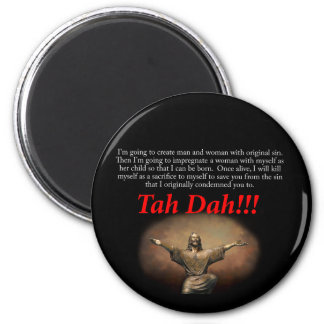 Jesus.  Tah Dah!!! 2 Inch Round Magnet