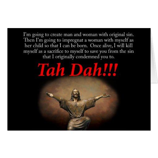 Jesús.  ¡Tah Dah!!!  Pascua Tarjeta De Felicitación