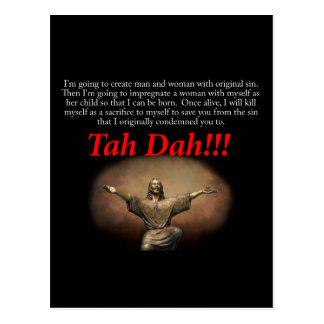 Jesus.  Tah Dah!!! Postcard
