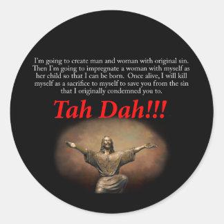 Jesus.  Tah Dah!!! Round Stickers