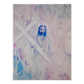 "Jesus- ""Take Up Your Cross"" - Print"