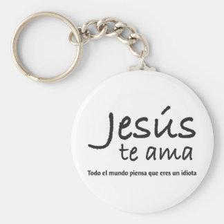 Jesús te ama keychain
