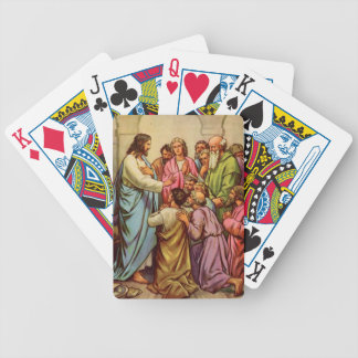 Jesus Teaches a New Commandment Playing Cards