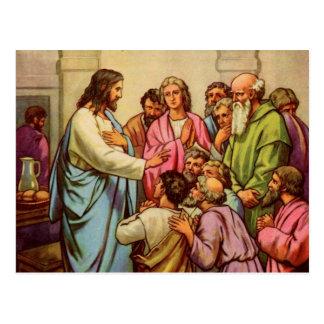 Jesus Teaches a New Commandment Postcard