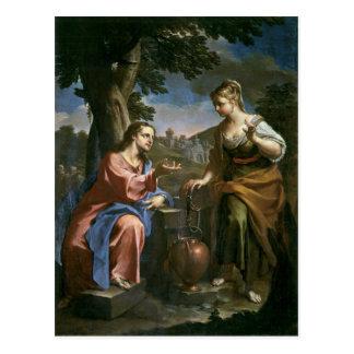 Jesus Teaches Samaritan Woman Postcard
