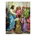 Jesus Teaching A New Commandment Postcard