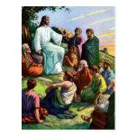 Jesus Teaching How To Pray Postcard