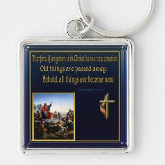 Jesus teaching multiple scripture keychain