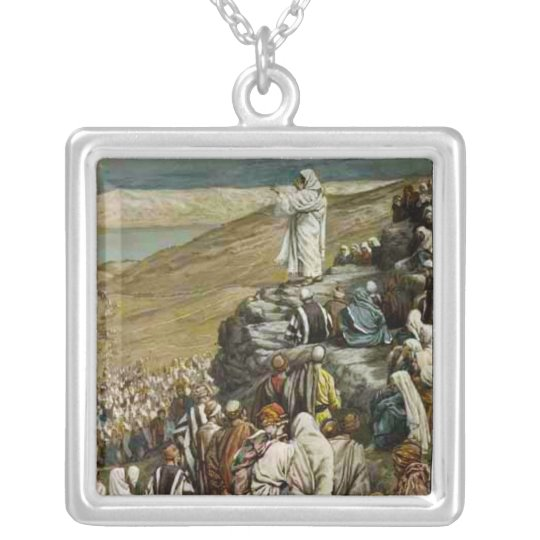 Jesus teaching the Sermon on the Mount Necklace