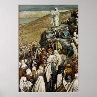 Jesus teaching the Sermon on the Mount Poster