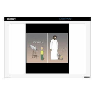 Jesus & Telescope Laptop Skin