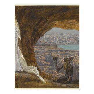 Jesus Tempted in Wilderness Postcard