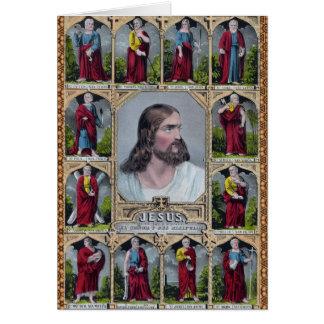 Jesus & The 12 Apostles Greeting Card