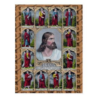 Jesus & The 12 Apostles Postcard