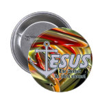 Jesus the Anchor Pinback Button