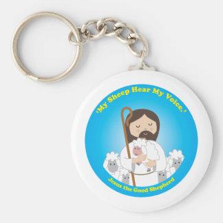 Jesus the Good Shepherd Basic Round Button Keychain