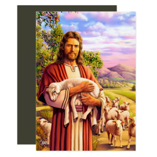 Jesus The Good Shepherd Painting Easter Cards