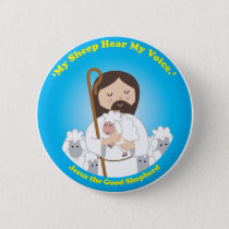 Jesus the Good Shepherd Pinback Button