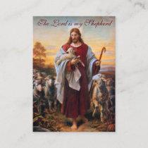 Jesus the Good Shepherd - Prayer Card (Flat)