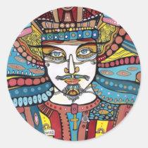 artsprojekt, portrait, sticker, design, modern, jesus, religious, bible, christ, king, art, painting, Sticker with custom graphic design