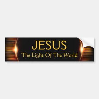 Jesus, The Light of the World Car Bumper Sticker