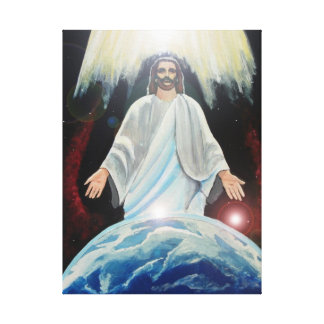 Jesus, the light of the world wrapped canvas art