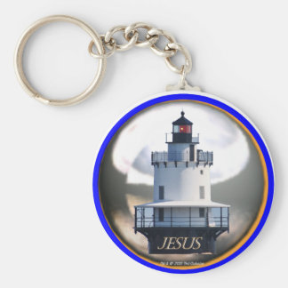 Jesus the Lighthouse Key Chain