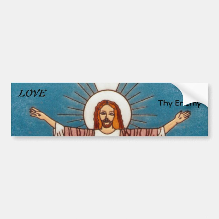 Jesus the Lion and the Lamb Bumper Sticker