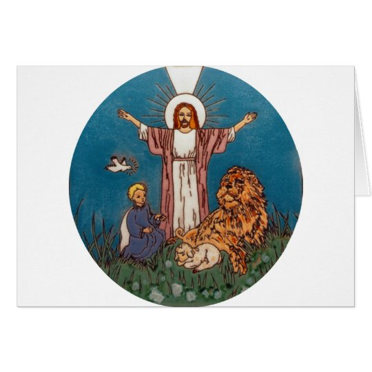 Jesus the Lion and the Lamb Card
