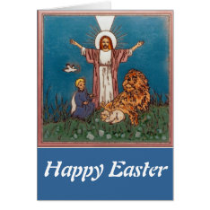 Jesus The Lion And The Lamb Card at Zazzle
