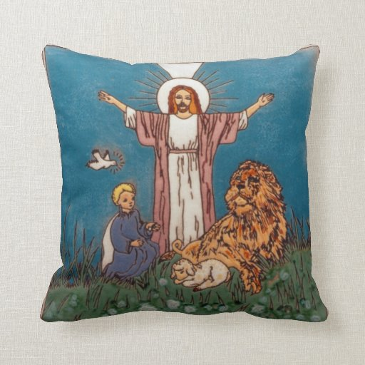 Jesus the Lion and the Lamb Pillows