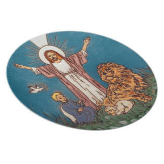 Jesus the Lion and the Lamb Dinner Plates