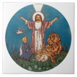 Jesus the Lion and the Lamb Tile