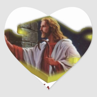 Jesus The Missing Piece Heart Sticker