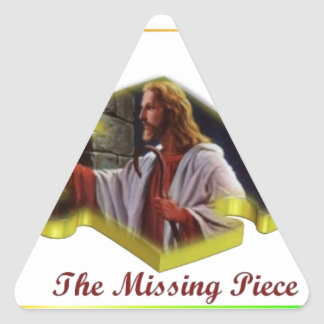 Jesus The Missing Piece Triangle Sticker