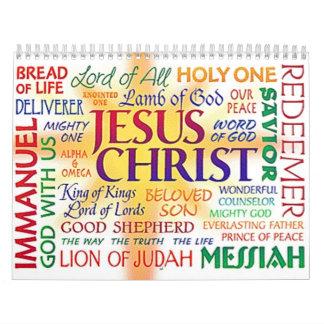 JESUS THE NAME ABOVE ALL NAMES CALENDAR