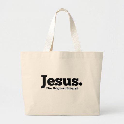 Jesus.  The Original Liberal Jumbo Tote Bag