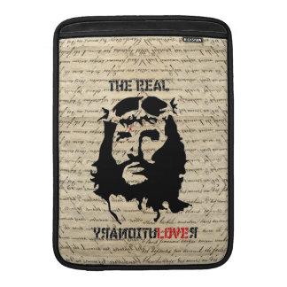 Jesus the real revolutionary MacBook sleeve