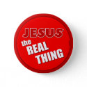 Jesus: the Real Thing button