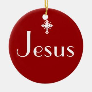 Jesus the Reason Ceramic Ornament