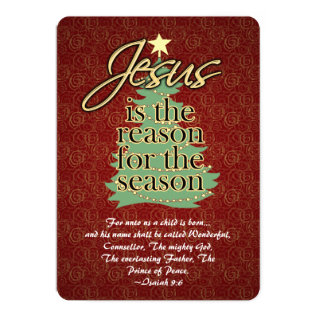 Jesus the Reason Christian Christmas Flat Greeting Card at Zazzle