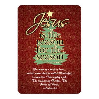 Jesus the Reason Christian Christmas Flat Greeting Card