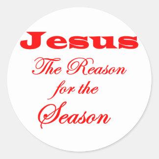 Jesus The Reason for the Season Classic Round Sticker