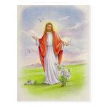 Jesus the shepherd tarjeta postal