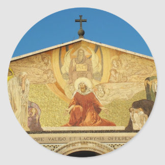 Jesus, the son of GOD in Church of Nations Round Sticker