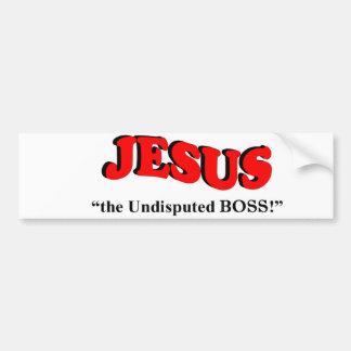 "JESUS - ""the undisputed BOSS!"" (Bumper Sticker) Bumper Sticker"