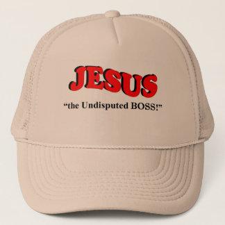 """JESUS - """"the undisputed BOSS!"""" (Trucker Head Caps) Trucker Hat"""