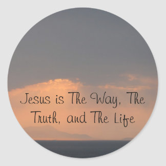 Jesus - The WAY, The TRUTH and The LIGHT Classic Round Sticker