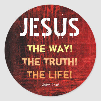Jesus The Way The Truth The Life John 14:6 Classic Round Sticker